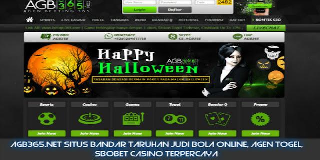 AGB365.NET Situs Bandar Taruhan Judi Bola Online, Agen Togel, SBOBET Casino Terpercaya