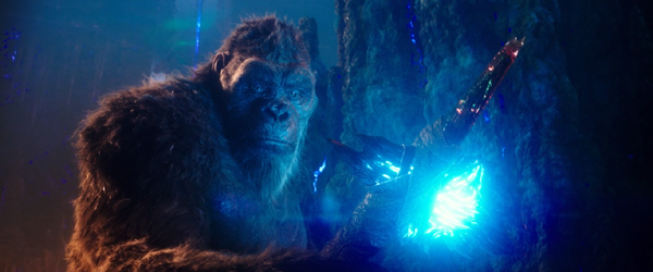 King Kong welds a special axe in GODZILLA VS. KONG.