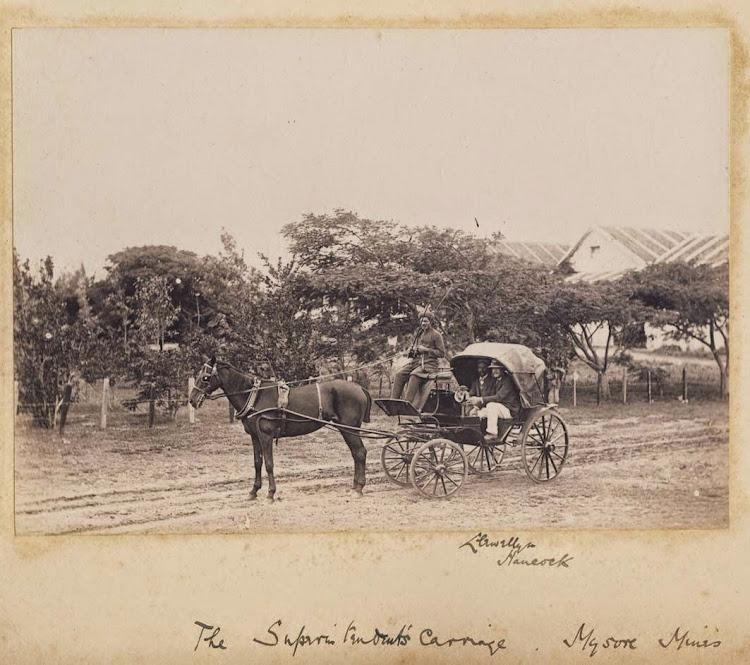 The Superintendent's Carriage, Mysore Mines - Karnataka, 1895