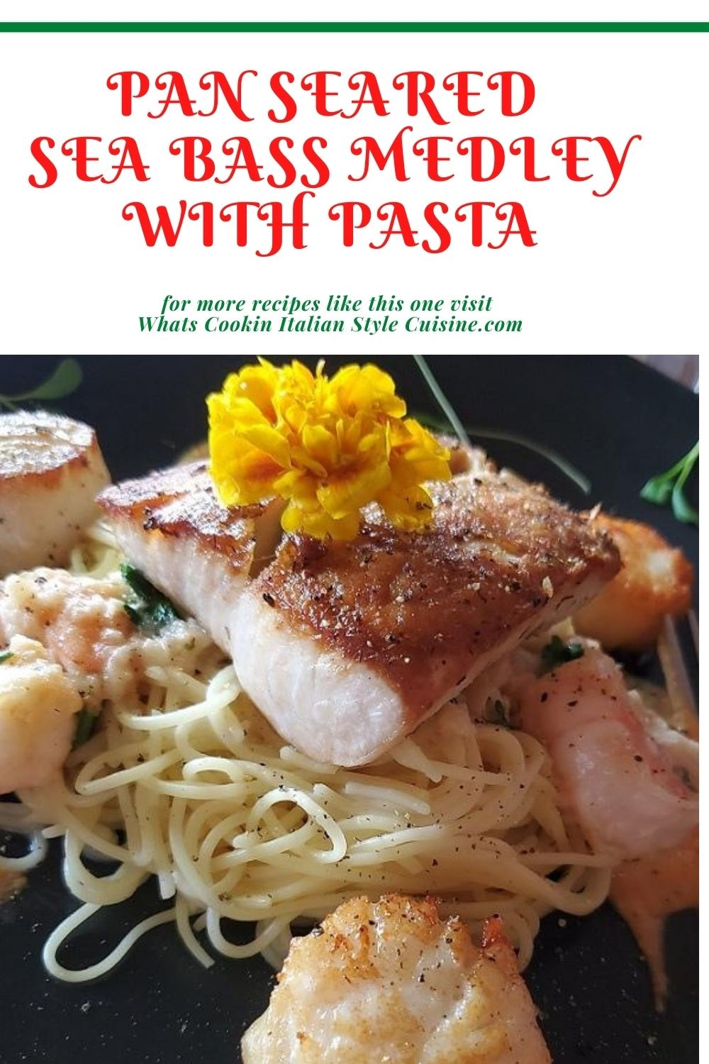 pin for later seafood medley over pasta