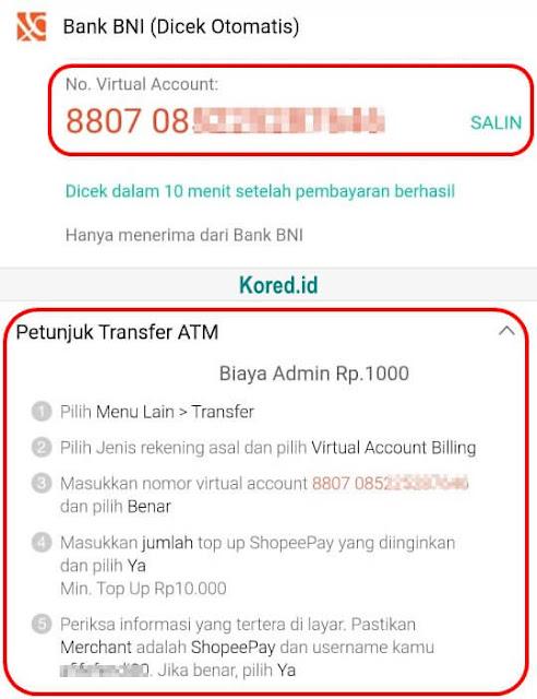 Isi Saldo ShopeePay Lewat ATM BNI