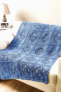 Crochet pattern Ogle House Throw CAL Crochet World Magazine