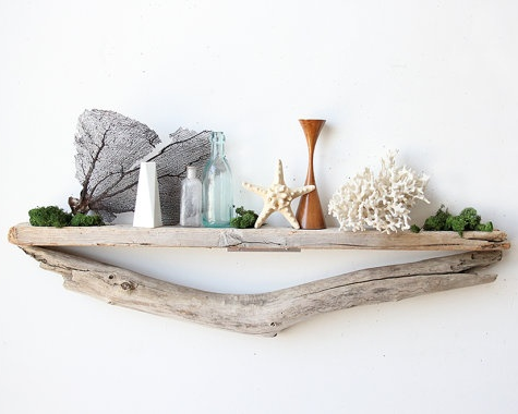 creative driftwood shelf idea