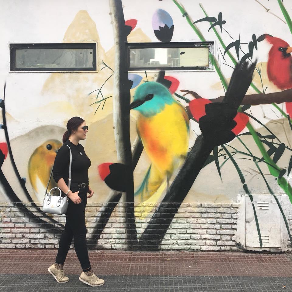 indigo mural