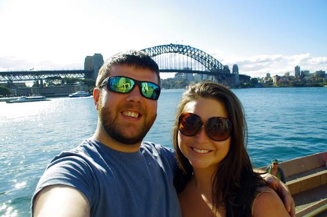 Couple at Sydney Harbour Bridge
