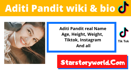 Aditi Pandit [TikTok], Age, Height, Boyfriend, Career, Videos and more.