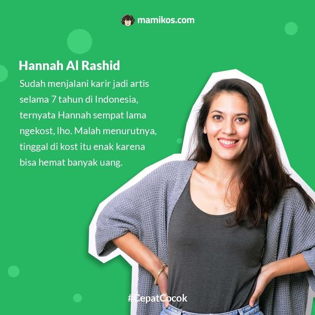 Hannah Al Rashid Mantan Anak Kost