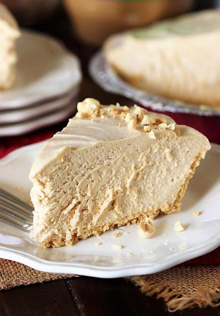 Slice of Fluffy No-Bake Peanut Butter Pie Image