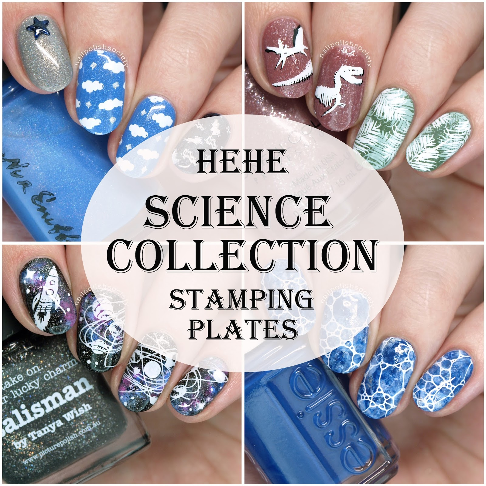 A Weeks Back I Reviewed Some New Plus Size Hehe Stamping Plates And As Promised Am With Their Science Collection When Saw This