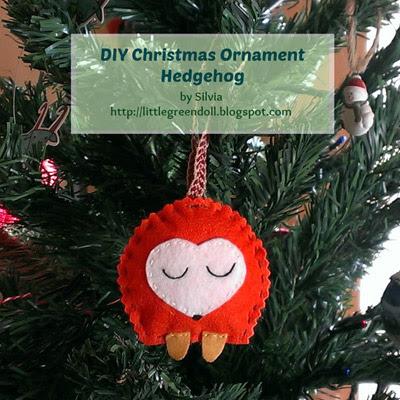 Adorno Navidad Erizo Christmas Ornament Hedgehog