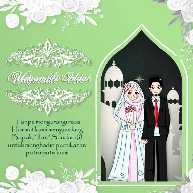 contoh template ppt undangan pernikahan gratis