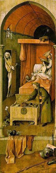 Morte do Avarento - Bosch, Hieronymus e suas principais pinturas