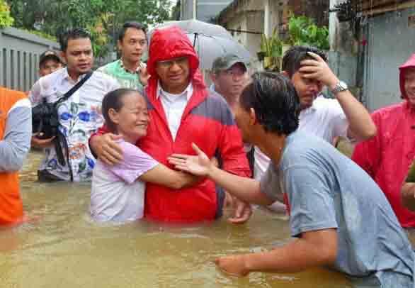 54 Titik Banjir Era Ahok , Anies Berhasil Kurangi Drastis Menjadi 11 Titik Saja