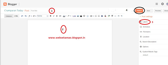 create post on blogger