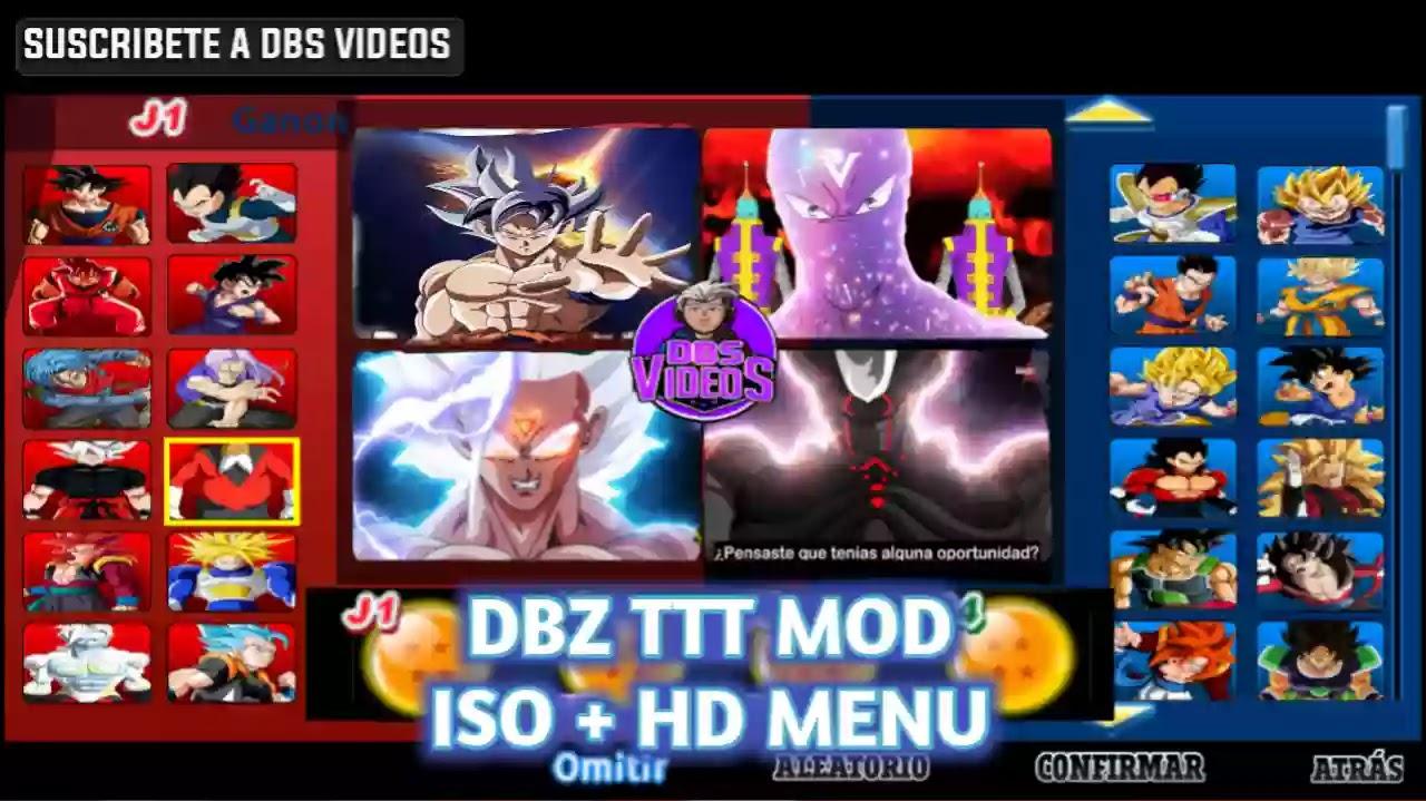DBZ TTT MOD HD Menu
