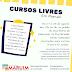 Prefeitura de Maruim inscreve para cursos livres nesta quarta e quinta-feira