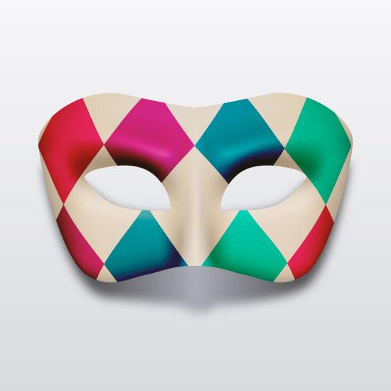 Máscara Arlequín - vector
