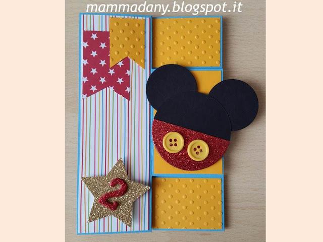 mickey mouse birthday card per 2 anni