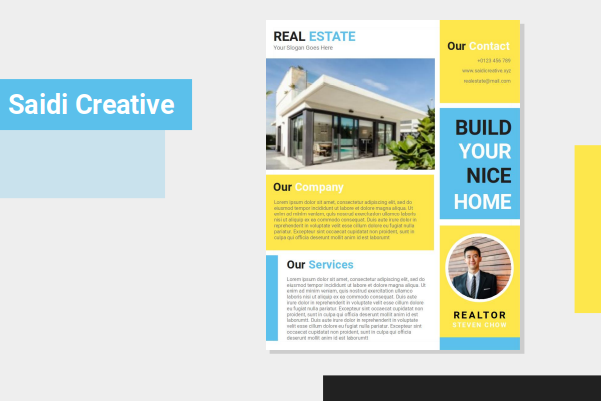Realtor Agent Flyer Template Free Download on Word File