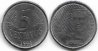 5 centavos, 1994