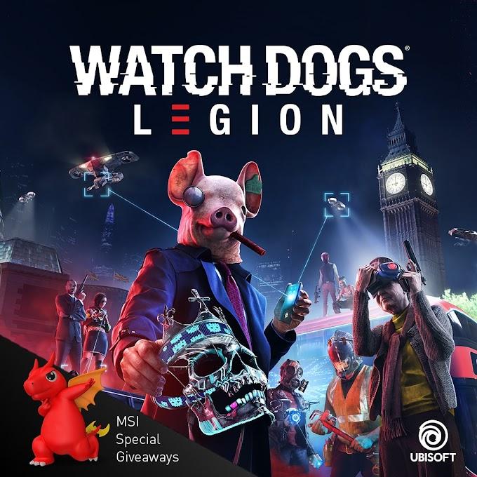 Sorteio de 10x cópias Game Watch Dogs Legion