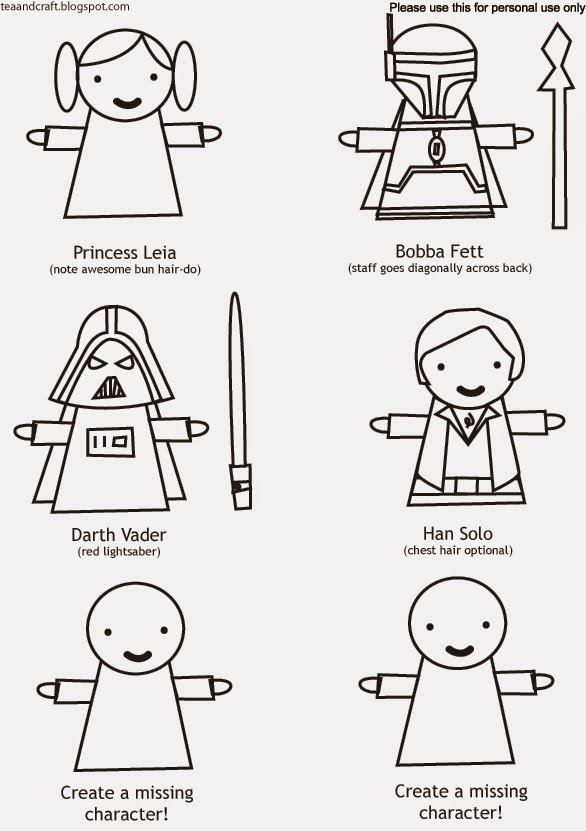tea and craft: Star Wars Finger Puppets