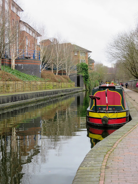 Canal boat in Birmingham, UK