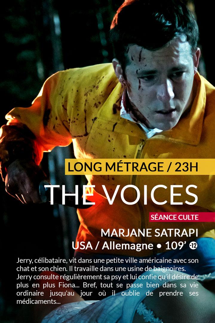 THE VOICES : vendredi 24 février à 23h