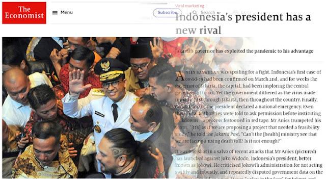 Sebut Anies Saingan Jokowi, The Economist: Presiden Punya Rival Baru