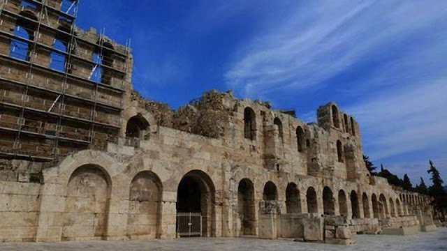 Restoration work completed on facade wall of Herod Atticus Odeion in Athens