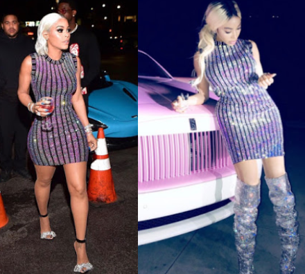 Dencia vs Keyshia Koir: Who rocked this $3,980 Gucci embroidered dressed better