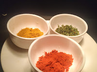 Red Chilli powder, fenugreek leaves and kitchen king masala for paneer butter masala recipe