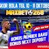 Hasil Pertandingan Sepakbola Tanggal 10 - 11 Oktober 2020