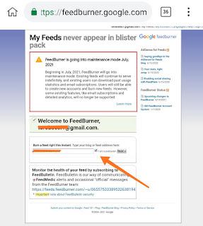 Cara membuat feed RSS blog