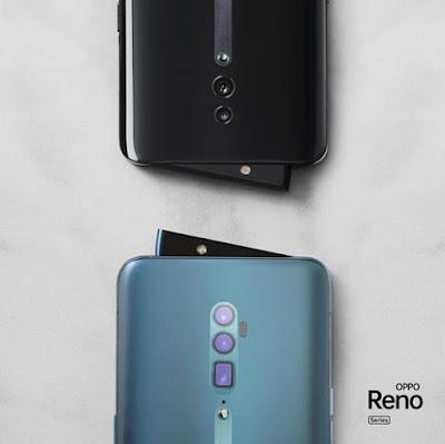 OPPO Reno juga memiliki desain rising camera