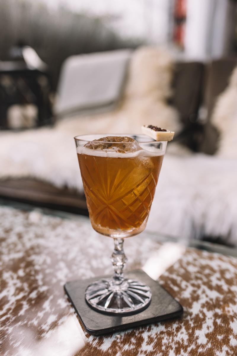 The Churchill bar winter terrace drinks
