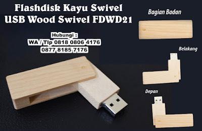 jual Usb Souvenir Kayu Putar, Flashdisk Swivel Kayu Oval - FDWD21, Flashdisk Kayu Swivel Promosi Type : FDWD 21, USB Wood Swivel FDWD21, Flashdisk Promosi Kayu FDWD21 dengan harga termurah