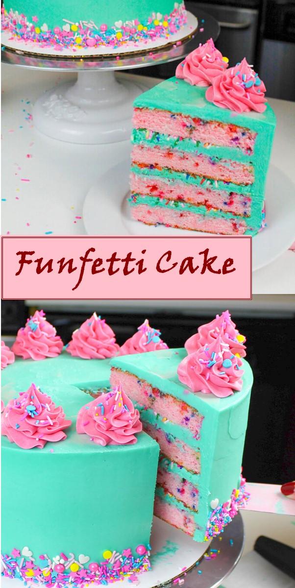Funfetti Cake Recipe #cakerecipes