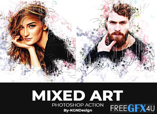 Graphicriver - Mixed Art Photoshop Action