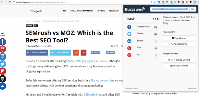 BuzzSumo extension 17 Top Best Google Chrome Extensions for SEO