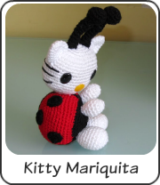 Hello Kitty mariquita amigurumi