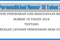 Kumpulan Permendikbud, PP, Perpres dan Peraturan Lain Tahun 2018