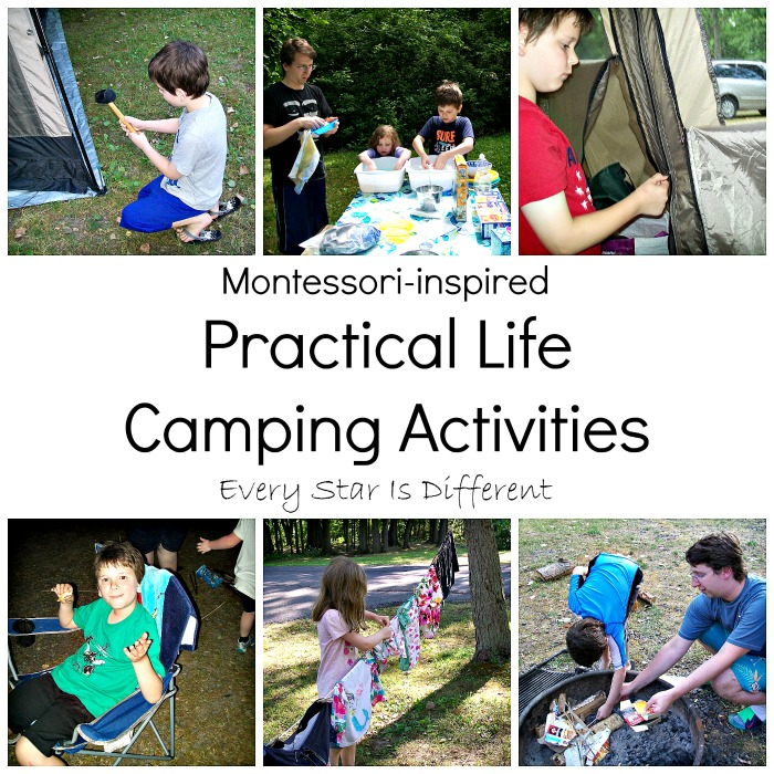 Montessori-inspired Practical Life Camping Activities