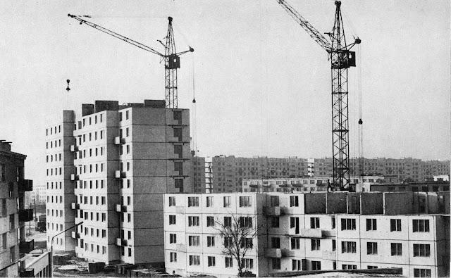 1970-е годы. Рига. Пурвциемс. Строятся дома на улице Стирну