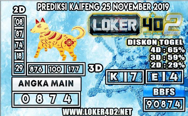 PREDIKSI TOGEL KAIFENG POOLS LOKER4D2 25 NOVEMBER 2019