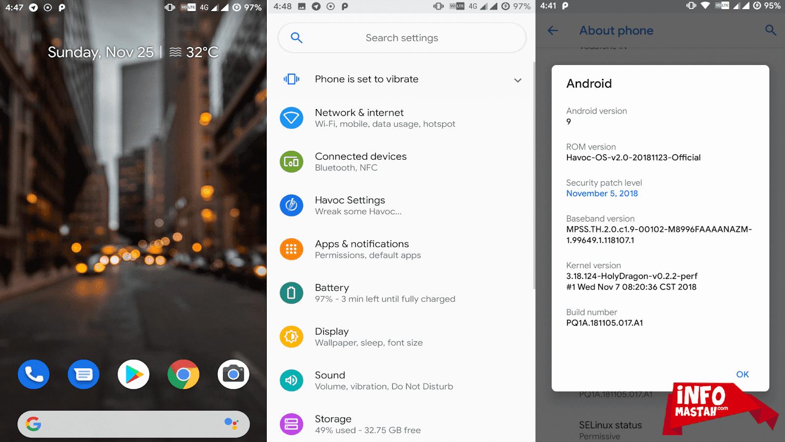 Screenshot ROM Havoc OS Xiaomi Redmi Note 5/Pro