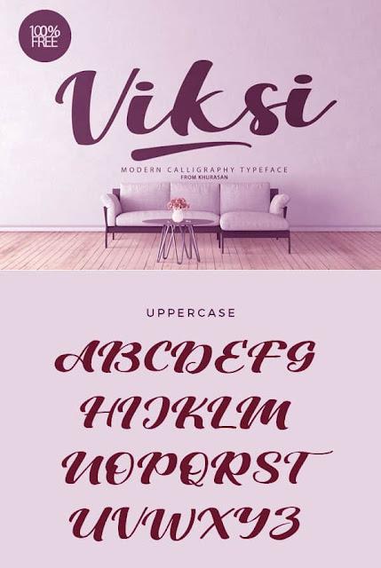 Viksi Script Font free Download