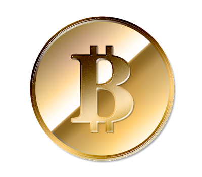 仮想通貨Bitcoinのフリー素材(金貨ver)