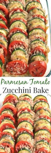 Parmesan Tomato Zucchíní Bake