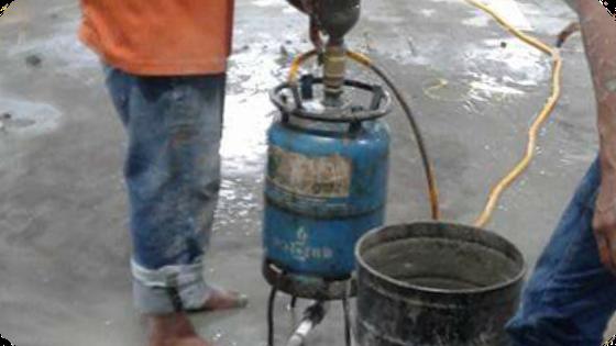 Cara memperbaiki beton bocor dengan metode Injeksi semen